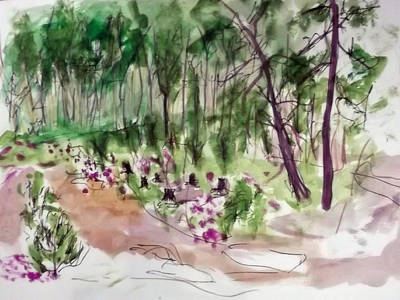 Painting - Woods Sketch by Peter Edward Green