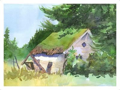 Woodsmen Painting - Woodsman's Shack by Margaret Sarantis