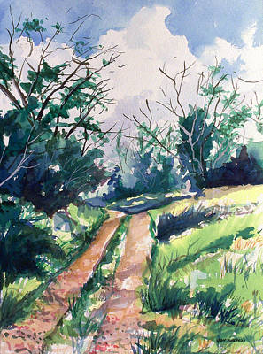 Woodsy Trail Art Print by Jon Shepodd
