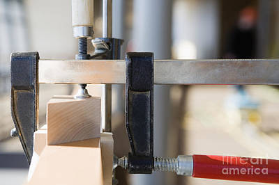 Woodworking Clamps Art Print