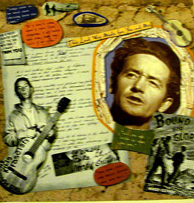 Woodies Mixed Media - Woody Guthrie Collage by Mari Bailey