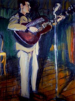 Woody Guthrie Painting - Woody by Les Leffingwell