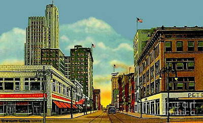 Painting - Woolworth's At Superior And Adams In Toledo Oh 1938 by Dwight Goss
