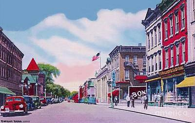 Painting - Woolworth's In Honesdale Pa In 1949 by Dwight Goss