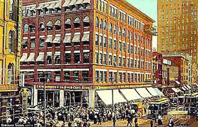 Painting - Woolworth's In Pittsburgh Pa In 1910 by Dwight Goss