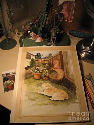 Photograph - Work In Progress - An Artist's Desk  by Nancy Patterson