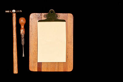 Carpenter Wall Art - Photograph - Work Tools by Tom Gowanlock