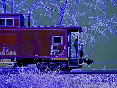 Photograph - Working Caboose by J R Seymour