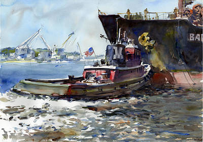 Docking Painting - Working Girl by Gordon France