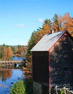 Autumn Photograph - Working Gristmill by Barbara McMahon