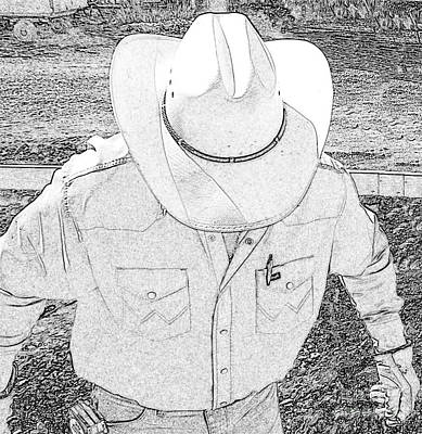 Working Cowboy Digital Art - Working Man by Scott Williams