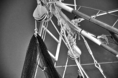 Rowboat Digital Art - Working Rigg by Barry R Jones Jr