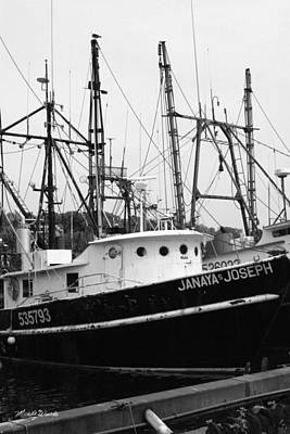 Photograph - Working Woman Fishing Boats Gloucester Massachusetts by Michelle Constantine