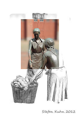 Working Women Anno 1900 Art Print by Steve K