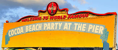 Coca-cola Sign Photograph - World Famous Party by David Lee Thompson