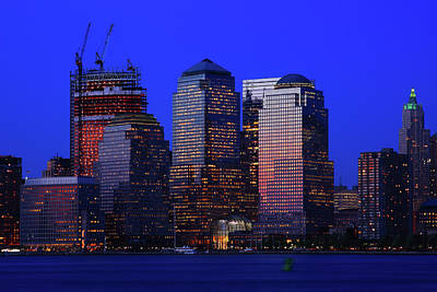 Skylines Royalty-Free and Rights-Managed Images - World Financial Center New York by Rick Berk