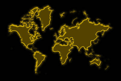 Photograph - World Map Gold Dust by Andrew Fare