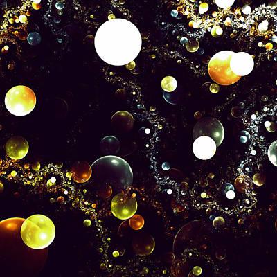 World Of Bubbles Art Print by Steve K