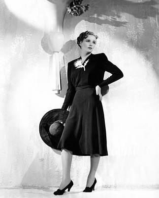 World Premiere, Frances Farmer Wearing Print by Everett