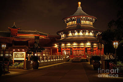 Photograph - World Showcase - China Pavillion by AK Photography