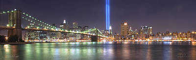 World Trade Center Tribute Lights Art Print by Shane Psaltis