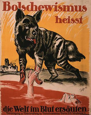 World War I, Bolshevism, Poster Shows Art Print