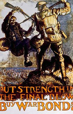 War Bonds Photograph - World War I British War Bonds Poster by Everett