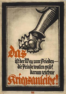 World War I, German Poster Depicting Art Print by Everett