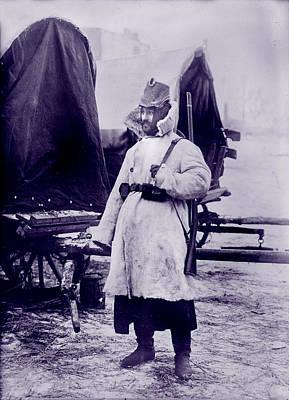 World War I, German Soldier In Winter Art Print by Everett