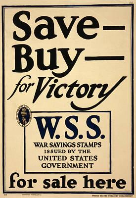 World War I, Poster - Save - Buy - Art Print by Everett