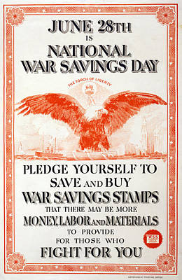 World War I, Poster In The Style Art Print by Everett