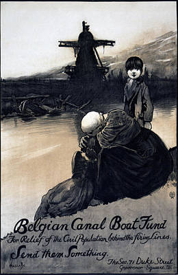 World War I, Poster Showing A Mother Print by Everett