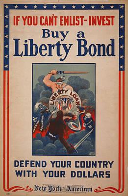 World War I, Poster Showing Figure Art Print