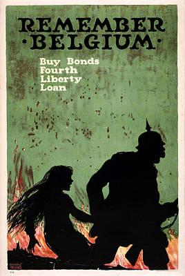 World War I, Poster Showing German Art Print