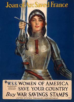 World War I, Poster Showing Joan Of Arc Art Print by Everett