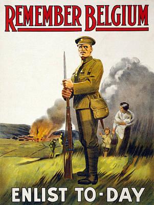 World War I, Recruitment Poster Poster Art Print by Everett
