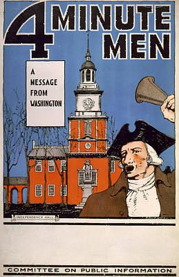 World War I, Town Crier, With Bell Art Print