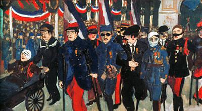 Bastille Day Celebration Photograph - World War I: Veterans by Granger