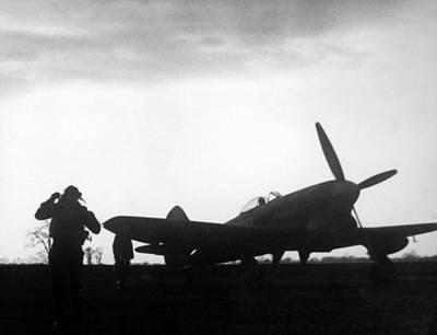 World War II, A British Fighter Pilot Art Print by Everett