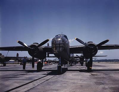 World War II, B-25 Bomber Planes Art Print