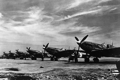 World War II, British Spitfire Planes Art Print