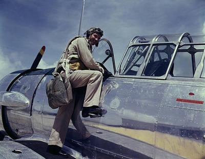 Climbing In Photograph - World War II, Cadet L. Deitz by Everett