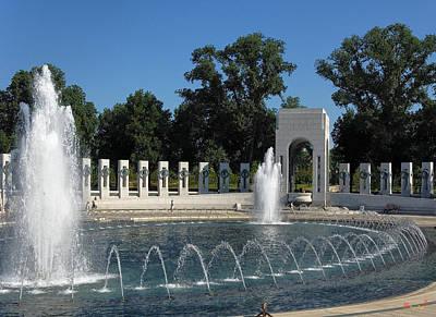 Photograph - World War II Memorial--atlantic Pavilion Ds039 by Gerry Gantt