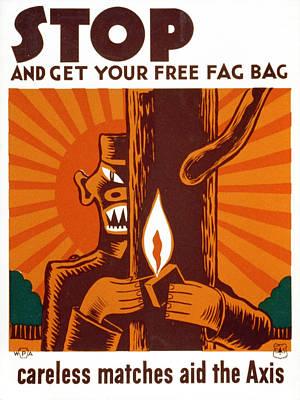World War II, Poster Encouraging Use Art Print by Everett