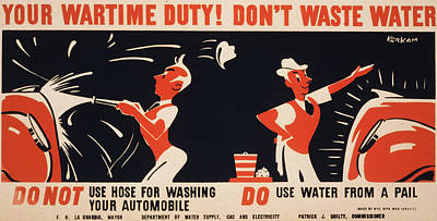 World War II, Poster For A New York Art Print by Everett