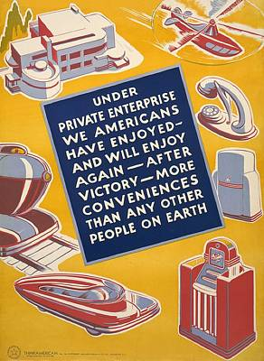 World War II Poster Reassuring Art Print