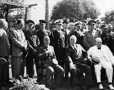 King Kai Photograph - World War II. Seated, From Left Chiang by Everett