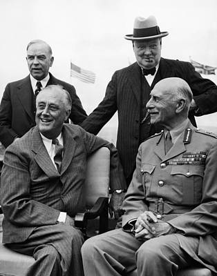 World War II. Seated, From Left  Us Art Print