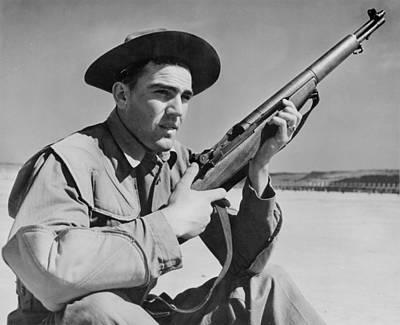 World War II, U.s. Soldier Ready Art Print by Everett