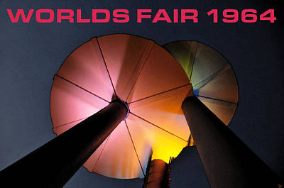 Disc Painting - Worlds Fair 1964 Work B by David Lee Thompson